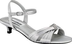 Dyeables Women's Shoes in Silver Color. Celebrate in style. A classy pair of shoes affixed with a rhinestone embellished strap and an adjustable ankle strap.