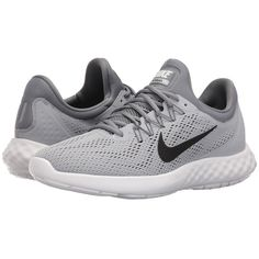 Nike Lunar Skyelux (Wolf Grey/Cool Grey/White/Black) Men's Running... (325 BRL) ❤ liked on Polyvore featuring men's fashion, men's shoes, men's athletic shoes, mens mesh shoes, mens breathable shoes, mens athletic shoes, mens black and white shoes and mens running shoes