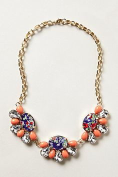 Pair this pretty bib necklace to take a casual dress from day to night #anthrofave