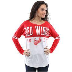 New-Era-NHL-Teams-Womens-White-Athletic-Baby-Jersey-Long-Sleeve-T-Shirt-MRSP-45
