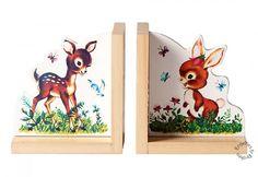 Sass & Belle - Boekensteunen hert en konijntje