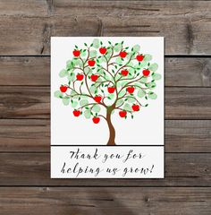 Teacher Appreciation Gift apple Fingerprint Tree by TheArtyApples, £3.20