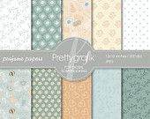 Perfume Digital Scrapbook Papers set - PGPSPK519 #prettygrafik