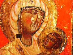 12th-century icon of the Virgin and Child, Svaneti Museum.