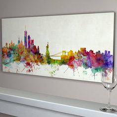 new york city skyline by artpause   notonthehighstreet.com