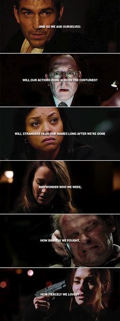 And so we ask ourselves: will our actions echo across the centuries? Will strangers hear our names long after we are gone and wonder who we were, how bravely we fought, how fiercely we loved? #poi