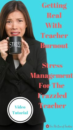 Are you a frazzled teacher? Are you burnt out from the demands of teaching and its workload? It's time to get real with teacher burnout and beat it. Watch this video tutorial for tips, strategies as I share my own experiences with burnout. Let's beat teacher burnout together. Video tutorial at For The Love of Teachers.