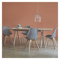 JERRY 4 seater dining set with Jerry extending oak table and 4 Jerry grey chairs Oak Extending Dining Table, Glass Dining Table, Oak Table, Extendable Dining Table, Dining Table In Kitchen, Dining Room Sets, Black Dining Chairs, Dining Table Chairs, Contemporary Dining Table