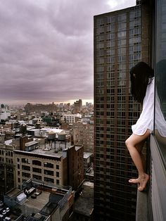 Gorgeous series from Korean photographer Ahn Jun --Nerve-Racking Self-Portraits of a Girl on the Edge - My Modern Metropolis