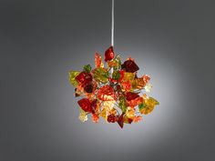 Ceiling light fixture. warm color  flowers and leaves. on Etsy, £84.95