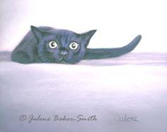 The StalkerOriginal Pastel Painting of a black by ArtByJulene, $125.00