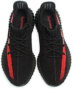 New UA Yeezy 350 Boost v2 SPLY 350 Black Red with Big Discount