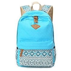 Hitop Geometry Dot Casual Canvas Backpack Bag, Fashion Cute Lightweight Backpacks for Teen Young Girls (Blue) Hitop http://www.amazon.com/dp/B012A4QUKC/ref=cm_sw_r_pi_dp_ENgwwb0089P8B