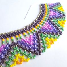 The new colorful necklace in creation process