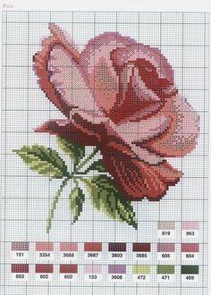 Amor-Perfeito-Amor: Gráficos ponto cruz rosas VIII