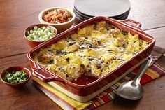 Bell peppers, black beans and lots of flavor make for a filing breakfast casserole recipe, great for vegetarian guests who eat eggs.