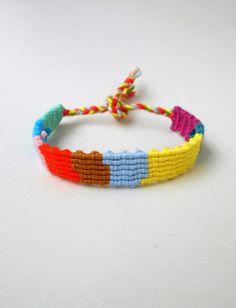 Friendship bracelet Patchwork bracelet Rag rug bracelet