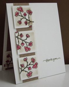 Cherry Blossoms Thank You - F4A111 by Loll Thompson - Cards and Paper Crafts at Splitcoaststampers