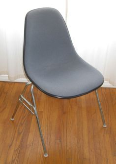 Eames Upholstered Stacking Chairs By Herman Miller
