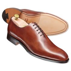 Whole cut shoes with no brogues. Hell yes.  | Men's business shoes from Charles Tyrwhitt | CTShirts.com