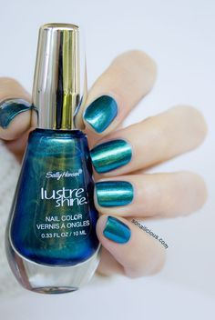sally hansen lustre shine scarab. click for a full review & close ups