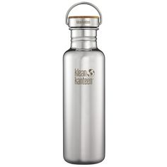 £22 Klean Kanteen Reflect 800ml Bottle Unibody Bamboo Cap Mirrored Stainless | Water & Hydration | Military 1st