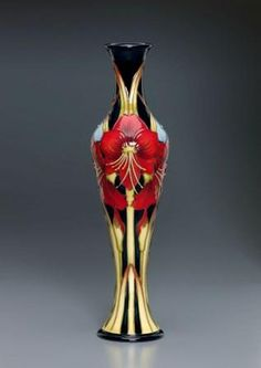 Moorcroft Pottery - Grandmother's Amaryllis by designer Kerry Goodwin