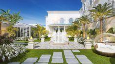 3d Landscape, Landscape Plans, Modern Exterior, Exterior Design, Outdoor Rooms, Outdoor Decor, House Design Pictures, Dubai, Home Decor Bedroom