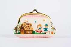 Metal frame coin purse  Hansel and Gretel  Big smile by octopurse, $21.40