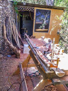 Wet History - Backyard Crafting Didgeridoo, Indigenous Art, Shop Ideas, Crafting, Backyard, Traditional, History, Music Instruments, Patio