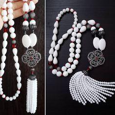 Ослепительно белый ❤️  Сотуар в продаже, описание под предыдущим фото     #guzelia_вналичии    Все мои сотуары можно посмотреть по тегу #guzelia_сотуар Wire Wrapped Necklace, Diy Necklace, Diy Earrings, Gemstone Necklace, Fashion Necklace, Unique Necklaces, Handmade Necklaces, Jewelry Necklaces, Handmade Jewelry