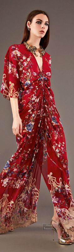 Roberto Cavalli. I HATE full jumpsuits, but this is impeccably designed.