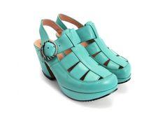 Raspberry Heels: Fluevog | Prepares | Portage [Aqua]
