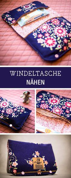 Nähanleitung für eine Windeltasche, Nähen für Babys / diy sewing tutorial for a diaper bag via DaWanda.com