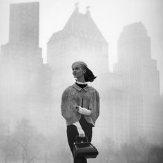 'Central Park Mist'…fashion photography by Tom Palumbo, New York City, 1950s.