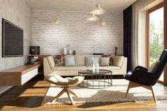 Nízkorozpočtový projekt domu bungalov na úzke pozemky Dining Bench, Conference Room, Table, House, Exterior, Furniture, Home Decor, Log Projects, Houses