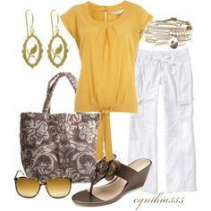 Easy Summer Outfit, created by cynthia335 on Polyvore