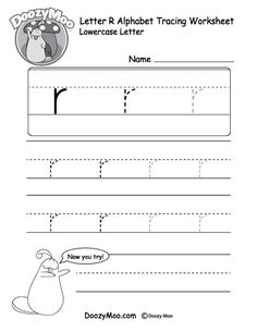 "Lowercase Letter ""r"" Tracing Worksheet - Doozy Moo Alphabet Tracing Worksheets, Printable Alphabet Letters, Alphabet Writing, Teaching The Alphabet, Tracing Letters, Preschool Letters, English Alphabet, Handwriting Worksheets, Alphabet Crafts"