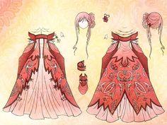 Vestido rosa, accesorios