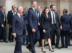 Felipe and Letizia attend a mass for the victims of Barcelona