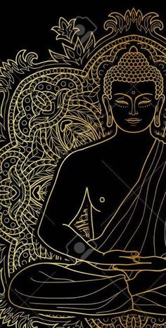 """""""We often assume that persons or situations outside us are responsible for what we feel. However, mindfully watching our feelings teaches us that both. Art Buddha, Buddha Drawing, Buddha Painting, Mural Painting, Buda Wallpaper, Little Buddha, Psychedelic Art, Mandala Art, Indian Art"""