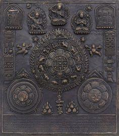 Tibetan astrological amulet, 19th century