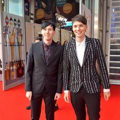 Dan and Phil at the BRITs