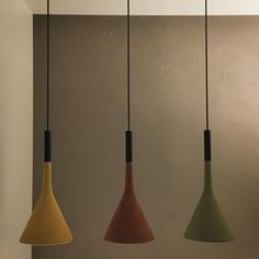 Aplomb Concrete Pendant LampAbout The Aplomb pendant lamp from mooielight is designed in 2010 by an Italian design studio Lucidi & Pevere. The lamp is made of concrete which is an important part of modern architecture. Aplomb uses this material in an innovative kind of way. Hang the lamp on its own or use several lamps as a composition at different heights. Aptly named, the Aplomb Pendant ensures precise lighting, its concrete shade pulling the cable taut, and lighting the room with Concrete Lamp, Concrete Design, Luminaire Design, Design Studio, Led, Home Lighting, Pendant Lamp, Modern Architecture, Light Bulb