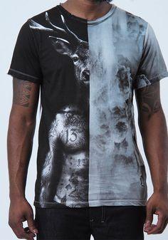 "Religion Clothing Herren T Shirt Shirt ""Deer Head"" NEU UVP 60€ | eBay"