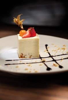 Frozen Amaretto Sabayon with Bitter Chocolate Sauce recipe #plating #presentation