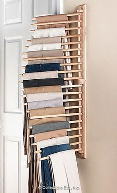 Wall Mount Trouser Pant Closet Organization Rack from Collections Etc.