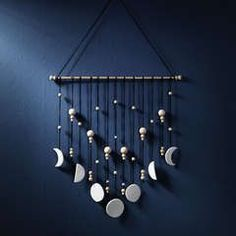 Moon phase tapestry DIY by Panduro
