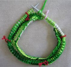 How to knit a sweater from the top down - great photos on marking sleeves, etc. - see the website!