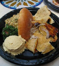 Sharwarma Chicken Platter from Tangierine Café in Epcot. Click for the full review!